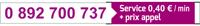 numero audiotel : 0 892 700 737