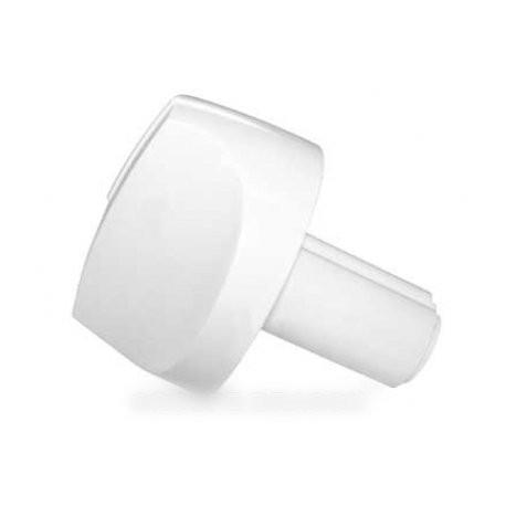 bouton de gaz blanc