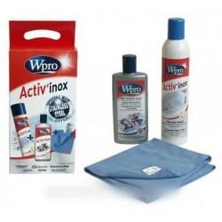 activ'inox creme + polish + tissu microf