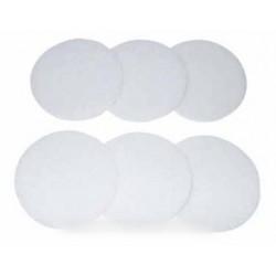disques de lustrage blanc x 6