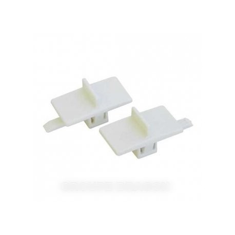 fermoir blanc (lot de 2 pieces)