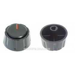 bouton manette marron diam axe de 8 m/m