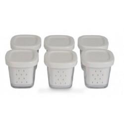 pots yaourt avec egouttoir (x6)
