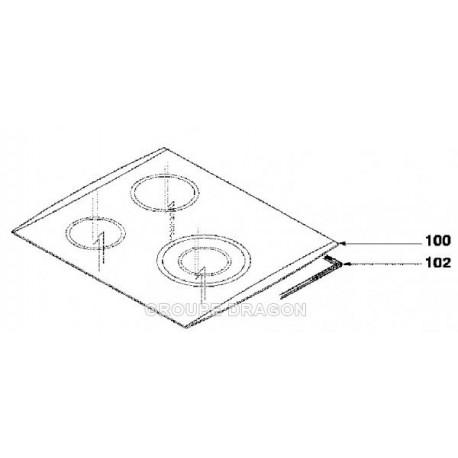 dessus verre table vitro ceram pour table de cuisson fagor brandt vedette sauter de dietrich. Black Bedroom Furniture Sets. Home Design Ideas
