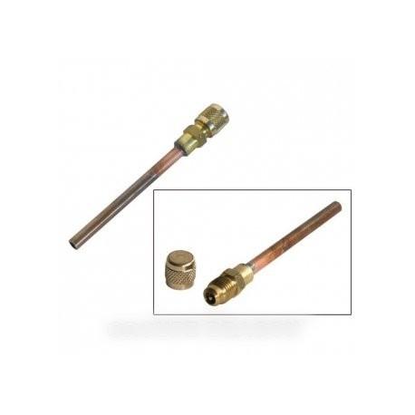 tube de charge cuivre avec vanne schrade