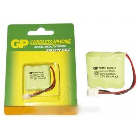 accumulateur 3.6v 300mah ni-mh gp