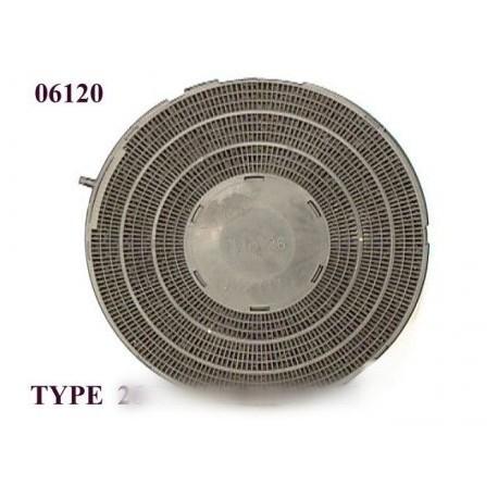 filtre rond a charbon actif type 26