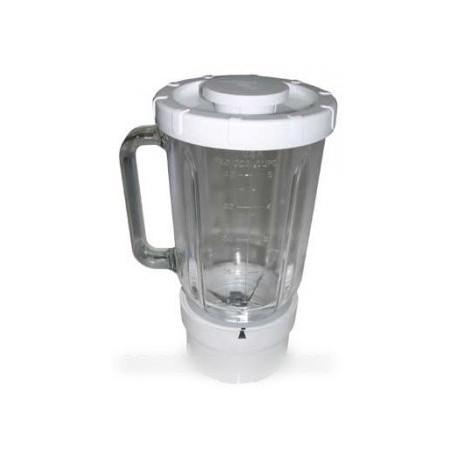 mixeur en verre 1.2 l base blanche
