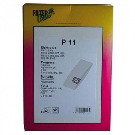 P11 SAC ASPI PAPIER X4 + 1MF POUR ASPIRATEUR