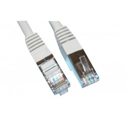 CORDON RJ45 MALE BLINDAGE DOUBLE CAT 5 CONNEXION 1:1 1M