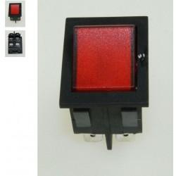 interrupteur marche arret bipolaire rouge pour petit electromenager CONSTRUCTEURS DIVERS