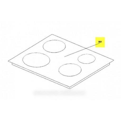 Dessus verre plaque vitro ceram pour table de cuisson arthur martin electrolu - Plaque de verre pour table basse ...