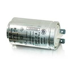 CONDENSATEUR 8UF 425V/475V AVEC CONNECTEUR POUR SECHE-LINGE AEG - ELECTROLUX