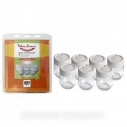 lot de 7 pots yaourtiere moulinex