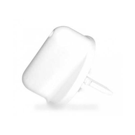 bouton platine blanche