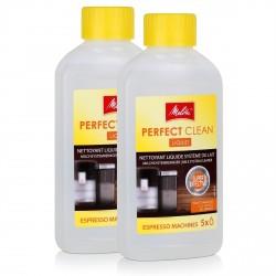 2x LAIT NETTOYANT MELITTA 250 ML PERFECT CLEAN POUR MACHINE A CAF