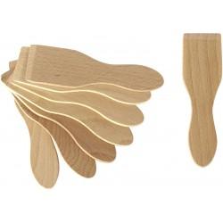 Lot de 8 spatules en bois Lagrange - Multiples usages : raclette, mini cr