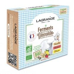 Ferments bio Vanille/Fraise/Citron pour yaourti