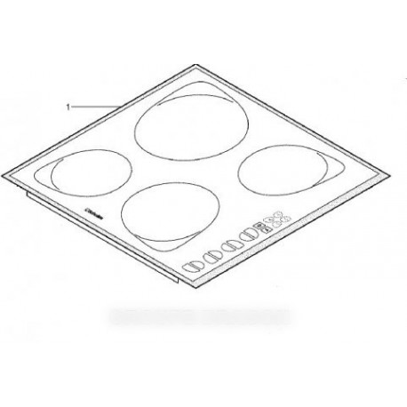dessus plaque vitro-ceram + carte touche