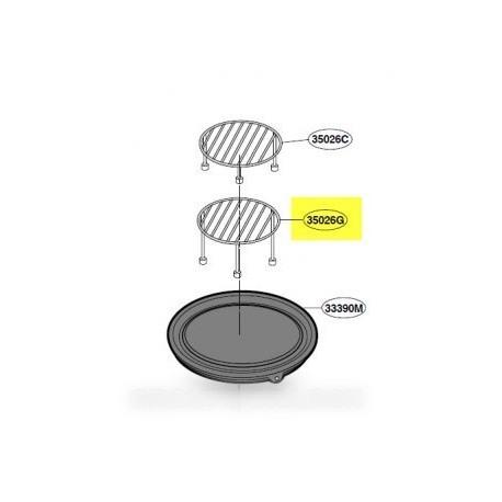 grille de four plateau avec embouts