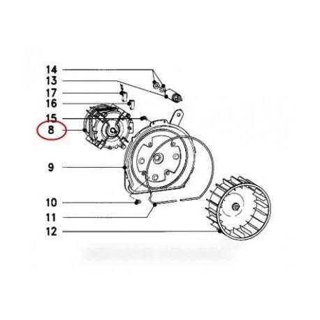 moteur ventilateur mle00-62/2
